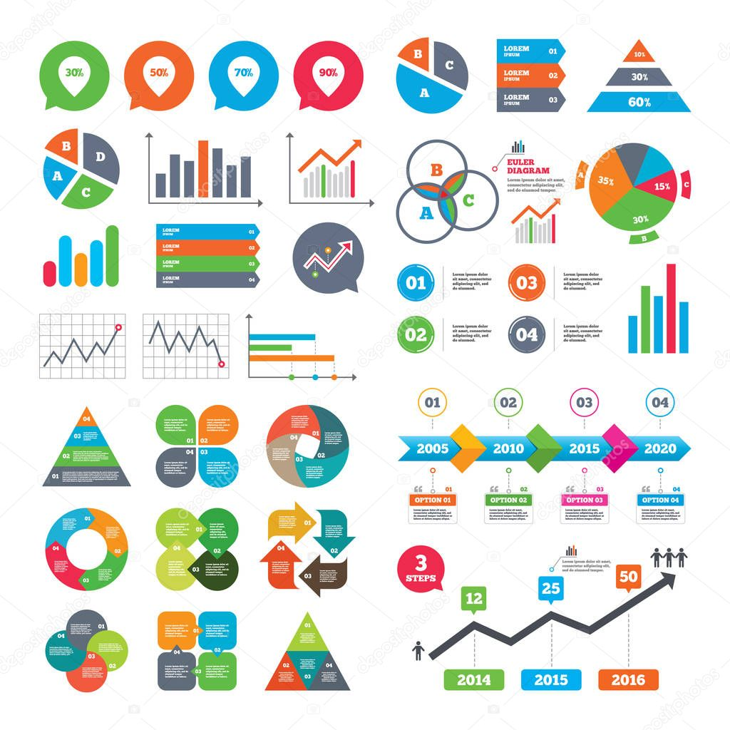 Discount special offer symbols stock vector blankstock 129788646 growth graph sale pointer tag icons discount special offer symbols 30 50 70 and 90 percent discount signs market report presentation biocorpaavc Choice Image