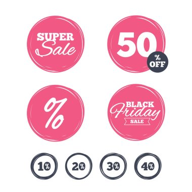 Super sale and black friday stickers