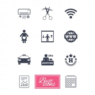 Hotel, apartment service icons