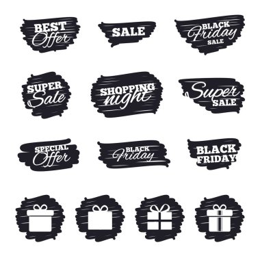 Ink brush sale stripes and banners