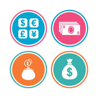 Currency exchange icons