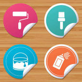 Painting roller, brush icons