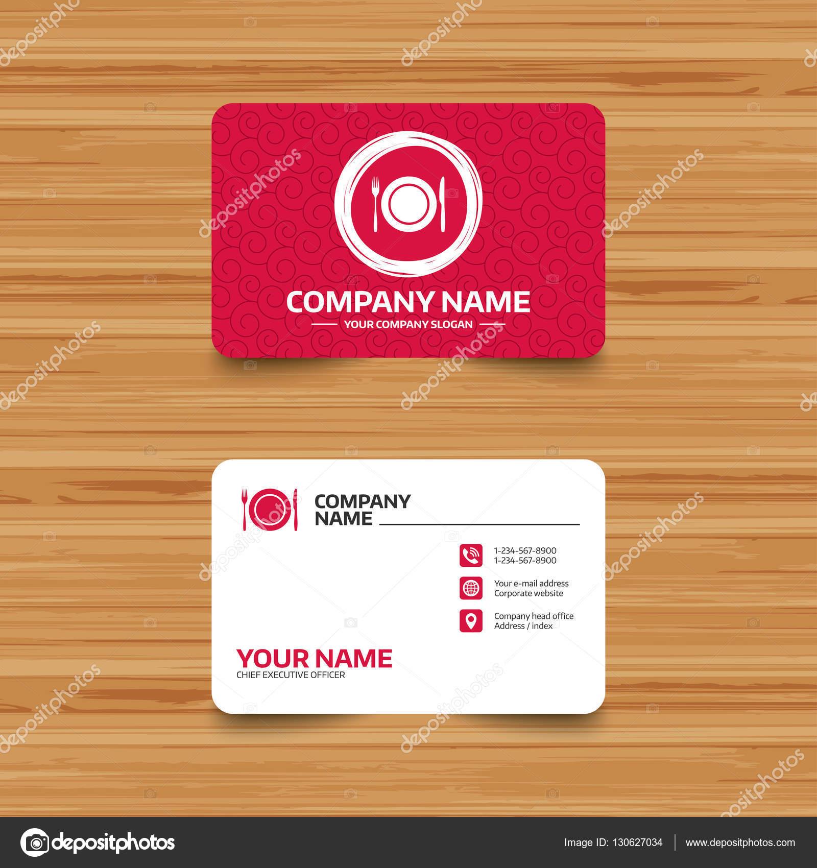 Visitenkarte Vorlage Mit Textur Stockvektor Blankstock