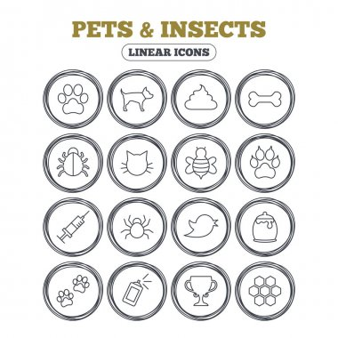 Pets and Insect icons
