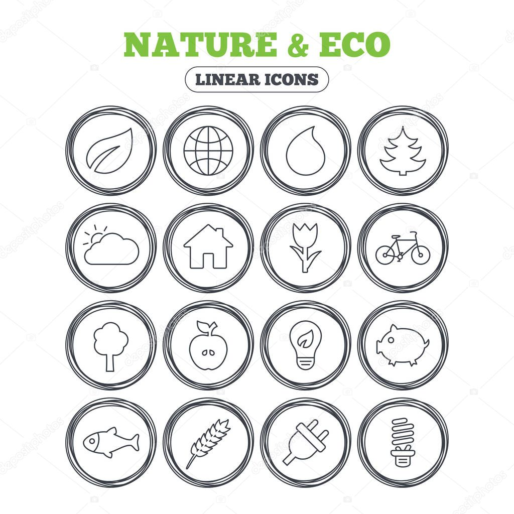Nature and Eco icons.
