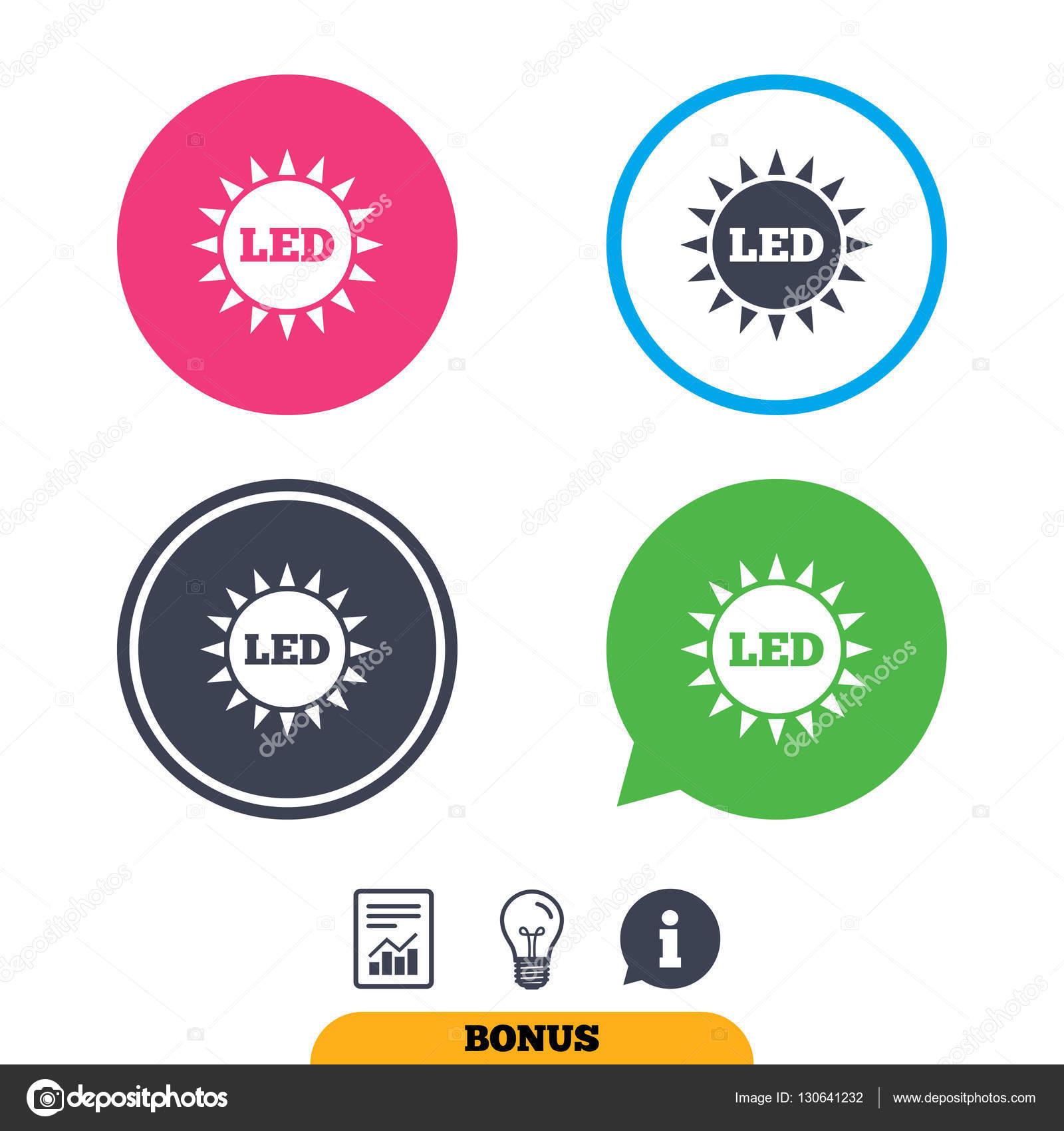 Led light icons — Stock Vector © Blankstock #130641232