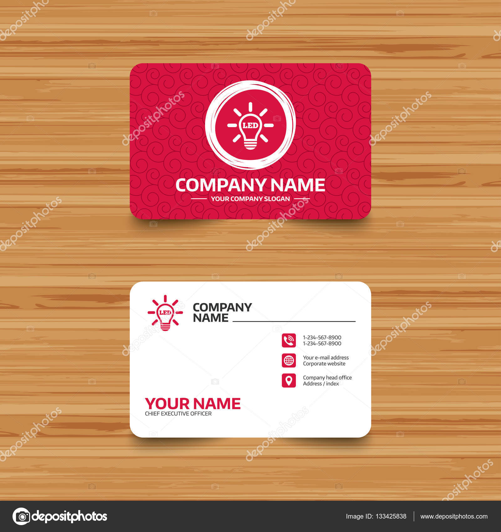 Led light lamp Business card templates — Stock Vector © Blankstock ...