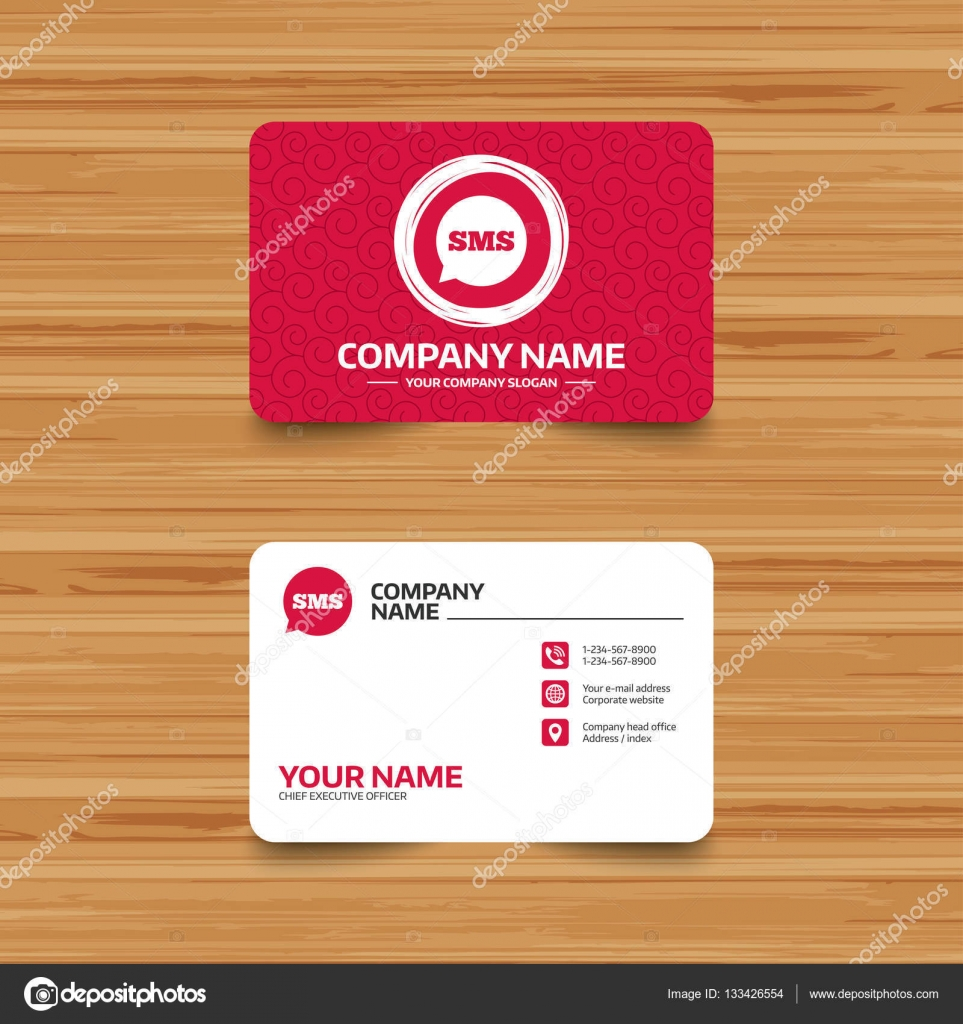 Sms speech bubble icon stock vector blankstock 133426554 business card template with texture sms speech bubble icon vector by blankstock colourmoves
