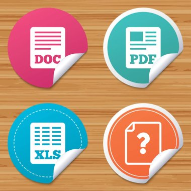 Document icons set