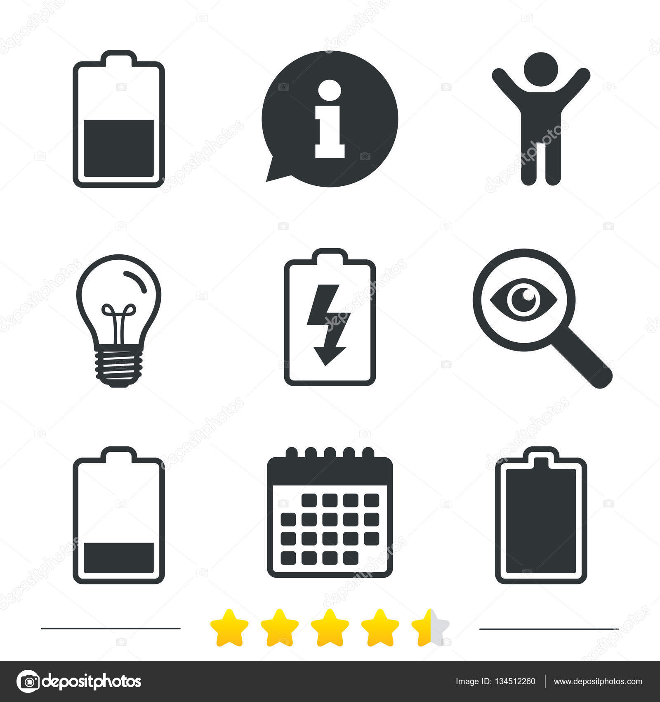 Electricity symbol set — Stock Vector © Blankstock #134512260