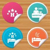 Pět hvězd hotel ikony