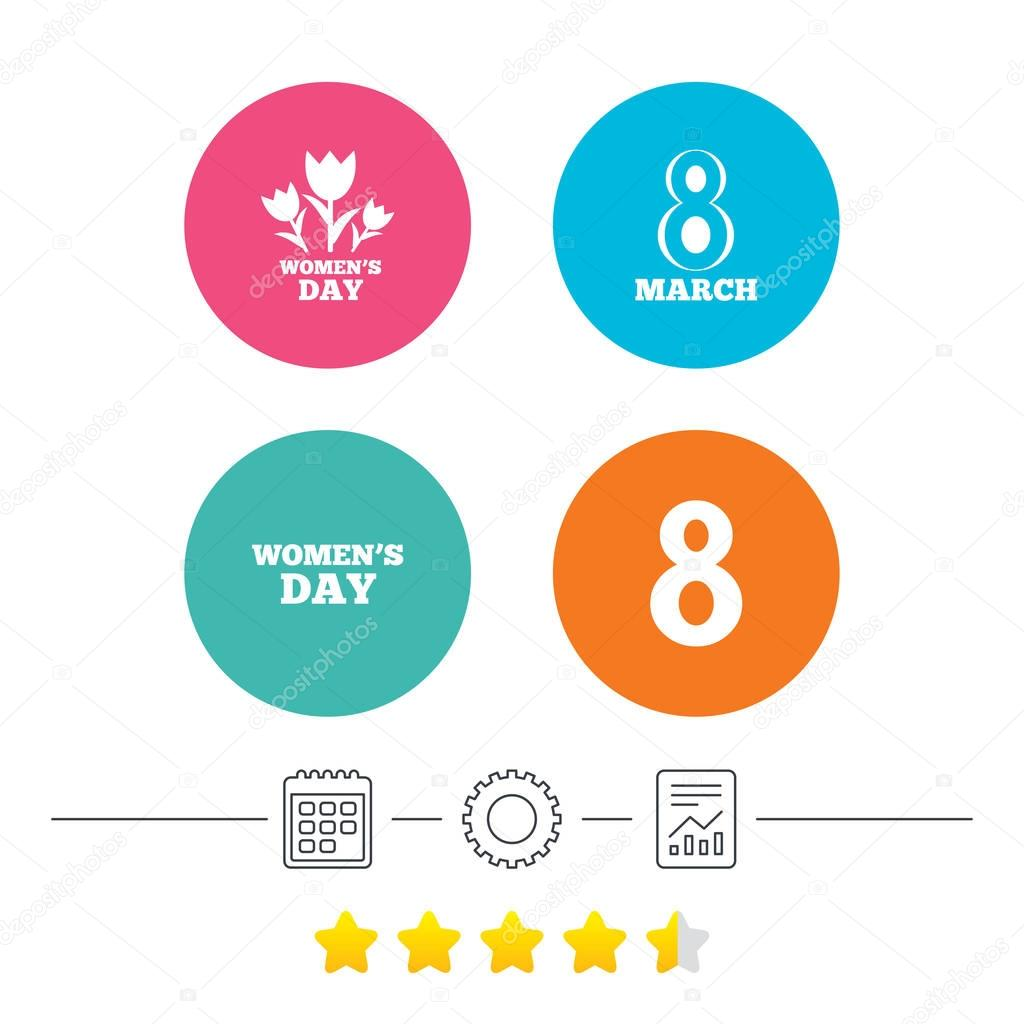 8 March Women's Day icons.