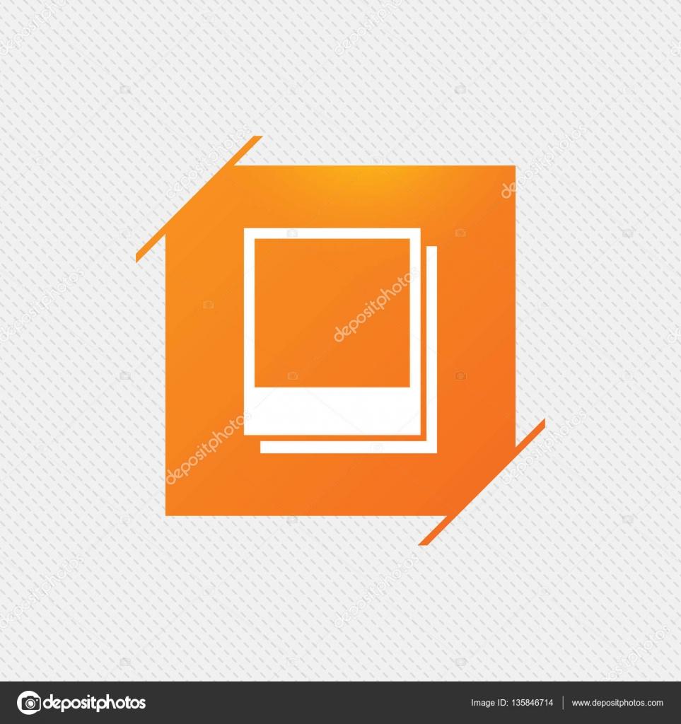 Foto Rahmen Vorlagensymbol. leere Fotografie — Stockvektor ...