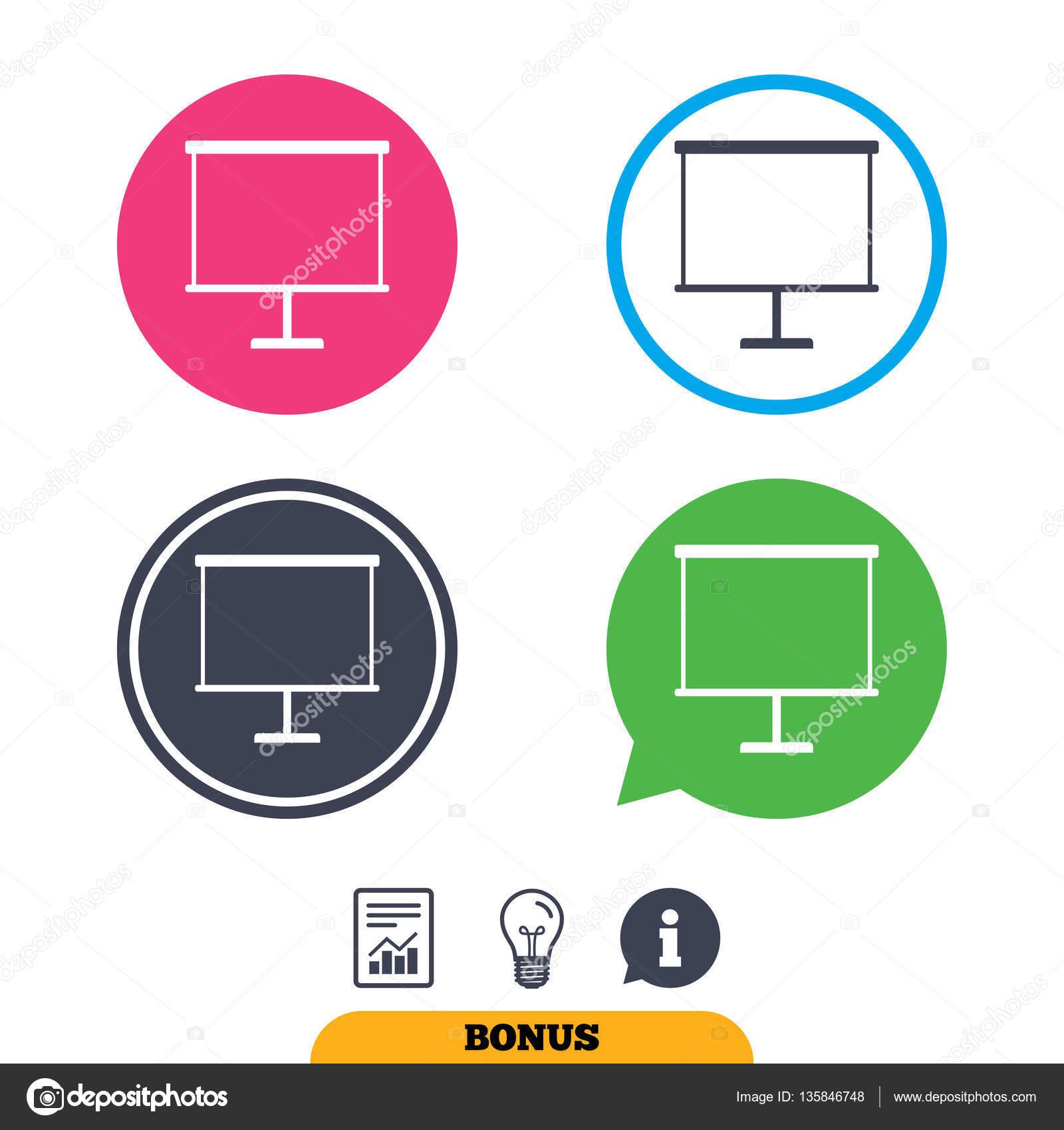 presentation billboard sign icon ppt symbol stock vector