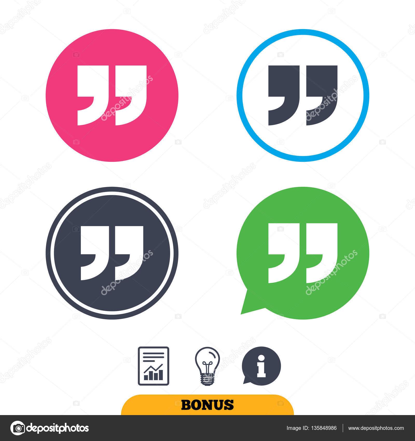 Quote Sign Icon Quotation Mark Symbol Stock Vector Blankstock