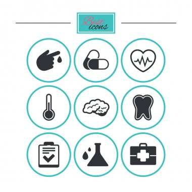 medical health and diagnosis icons