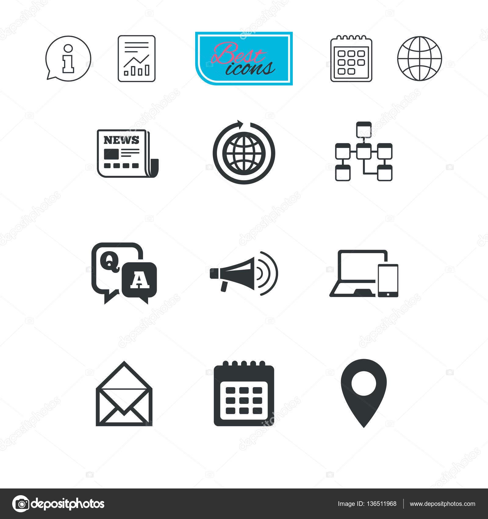 Einfache Symbole Kommunikation — Stockvektor © Blankstock #136511968