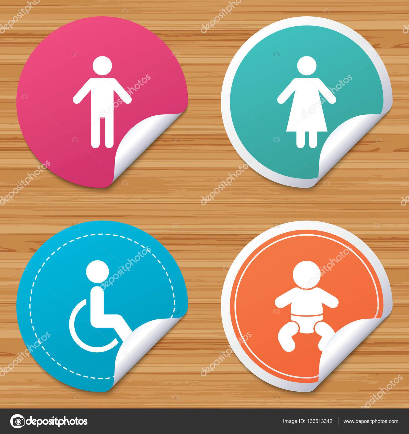 WC toilet icons. — Stock Vector © Blankstock #136513342