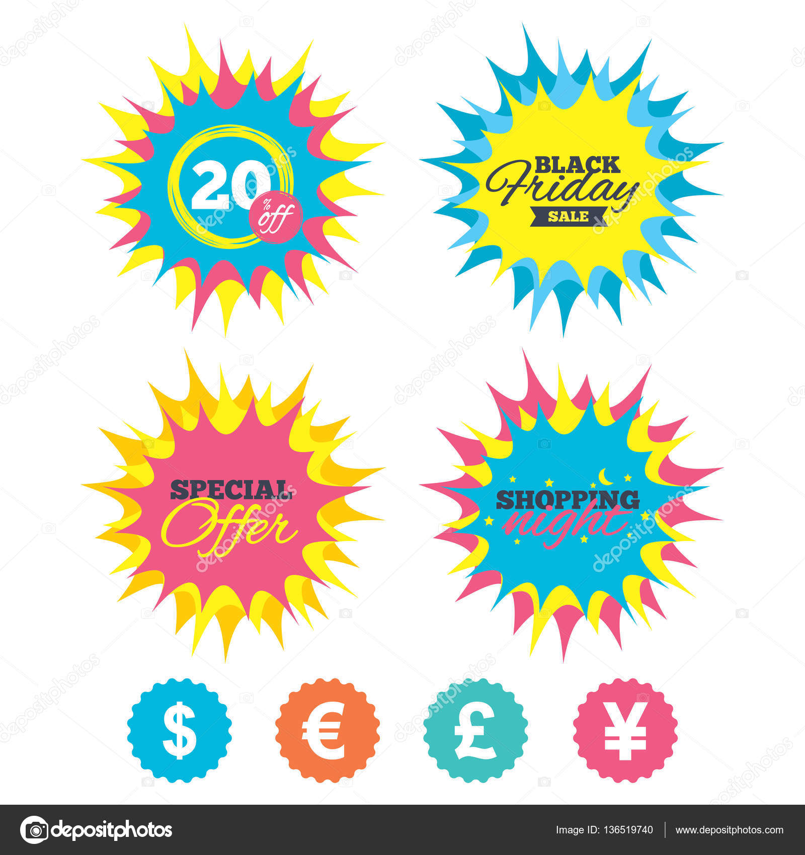 Dollar euro pound and yen currency icons stock vector dollar euro pound and yen currency icons usd eur gbp and jpy money sign symbols special offer vector vector by blankstock biocorpaavc Gallery