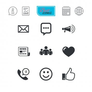 Mail services icons