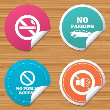 No Smoking, Sound. Private territory parking.