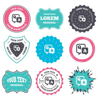 templates of labels and badges