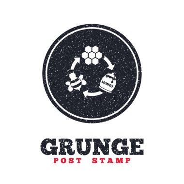 Grunge post stamp, vector illustration stock vector