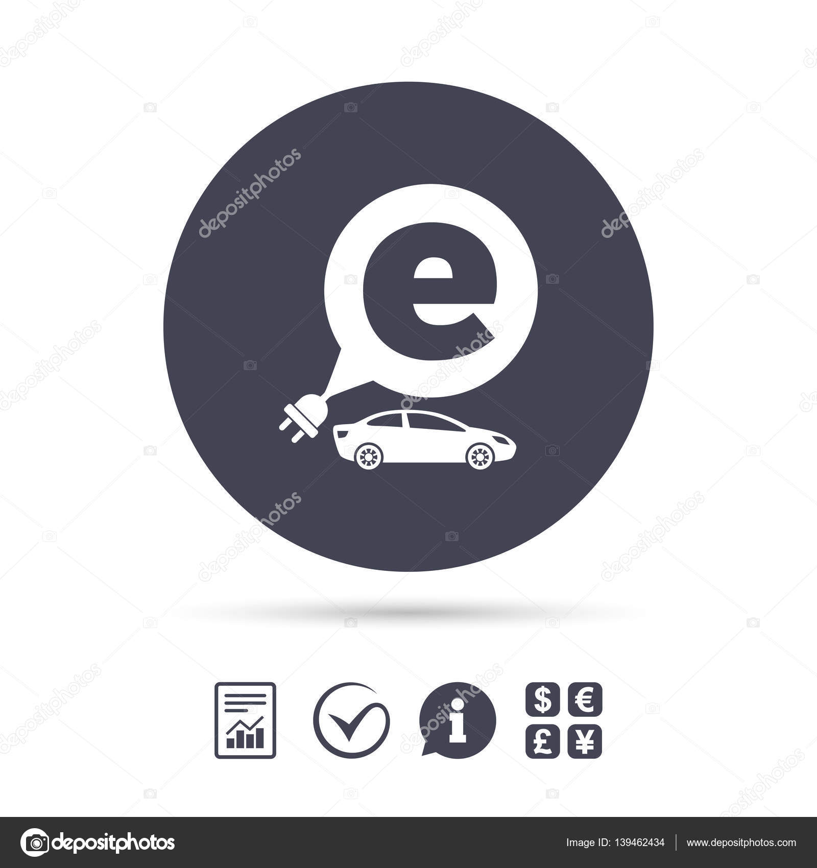 Elektroauto-Schild-Symbol. Limousine Limousine symbol — Stockvektor ...