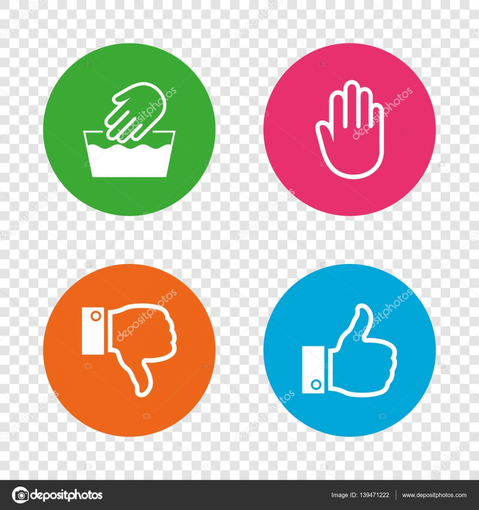 Hand icons like and dislike thumb up symbols stock vector hand icons like and dislike thumb up symbols not machine washable sign stop no entry round buttons on transparent background buycottarizona