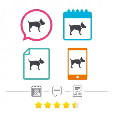 Dog sign icon