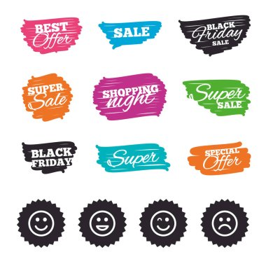 sale and offer stickers