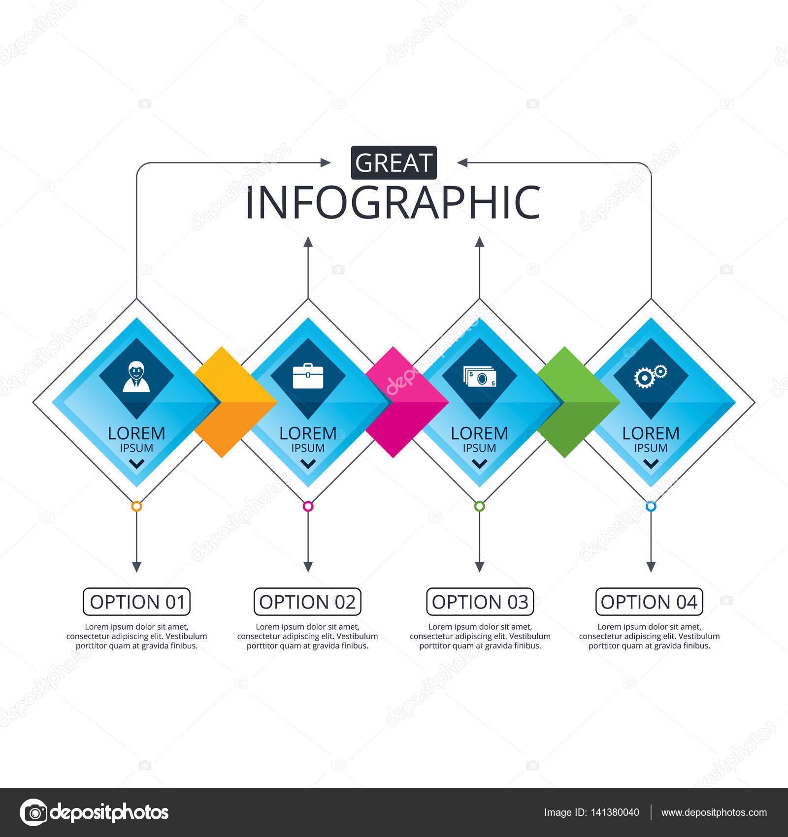 Infografik Flussdiagramm Vorlage — Stockvektor © Blankstock #141380040