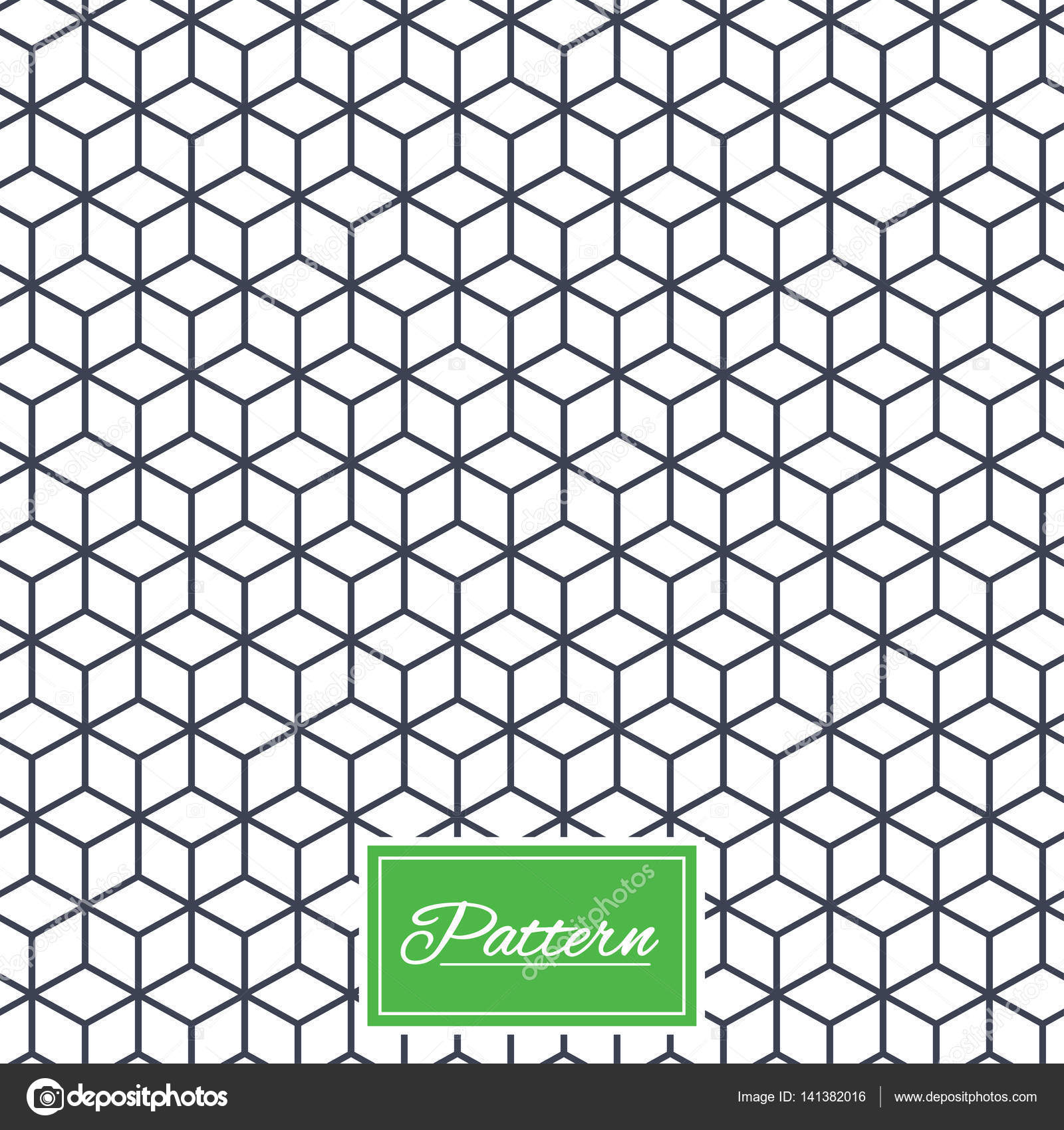 Würfel geometrisches nahtlose Muster — Stockvektor © Blankstock ...