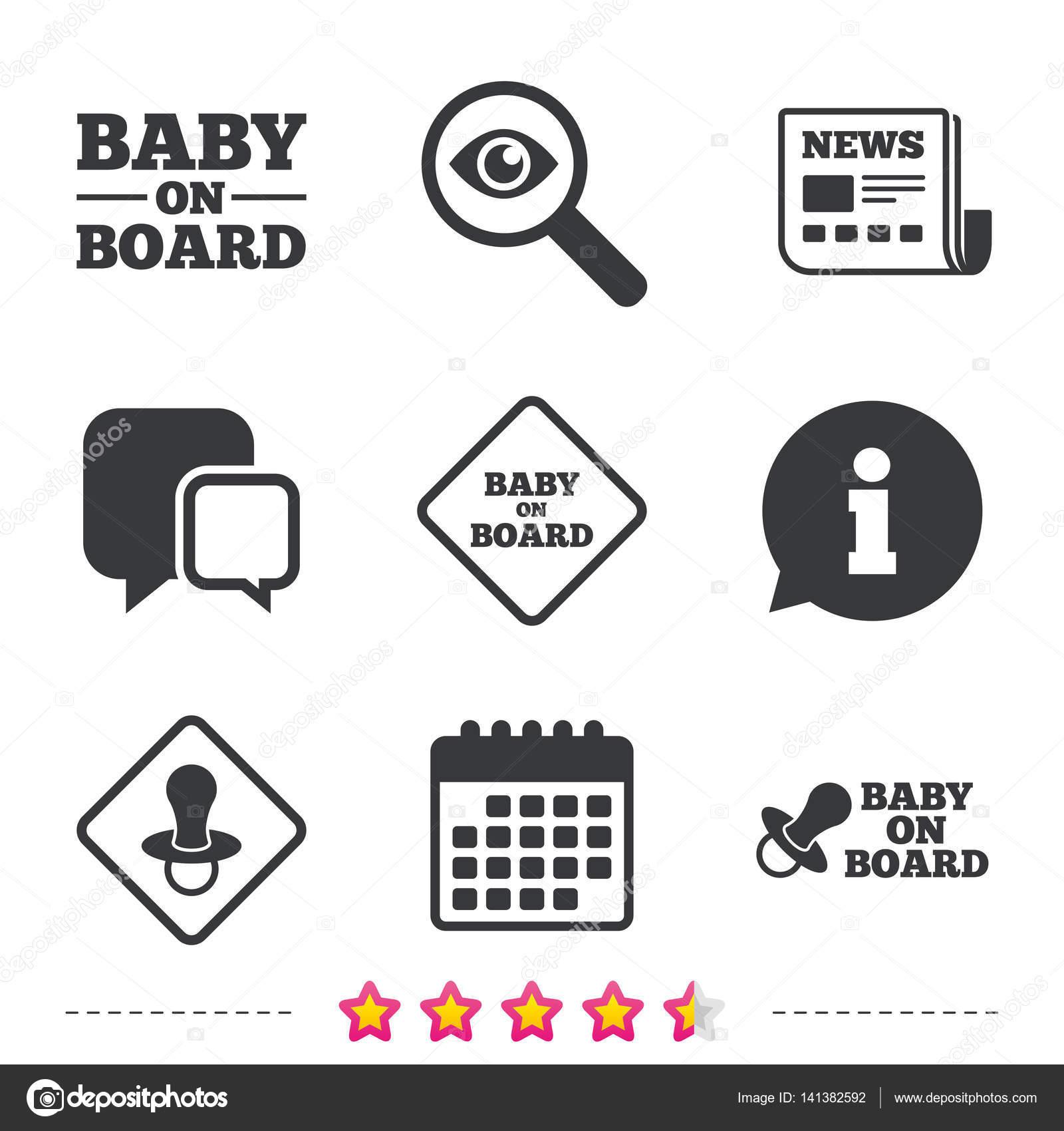 Baby on board icons — Stock Vector © Blankstock #141382592