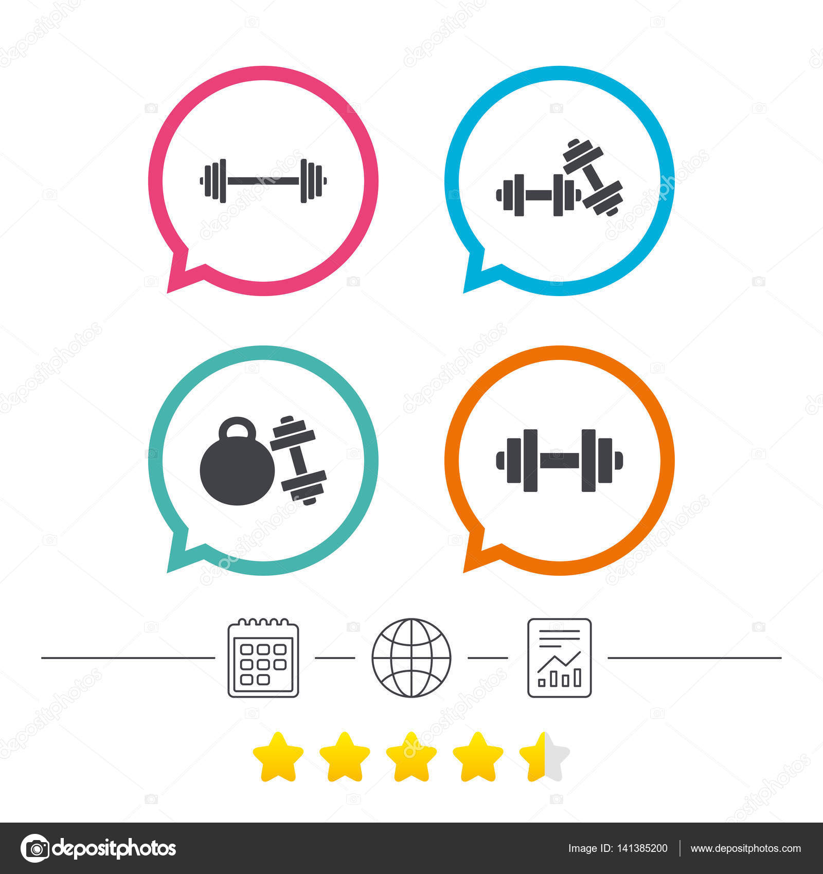 Fitness sport symbols stock vector blankstock 141385200 fitness sport symbols stock vector biocorpaavc