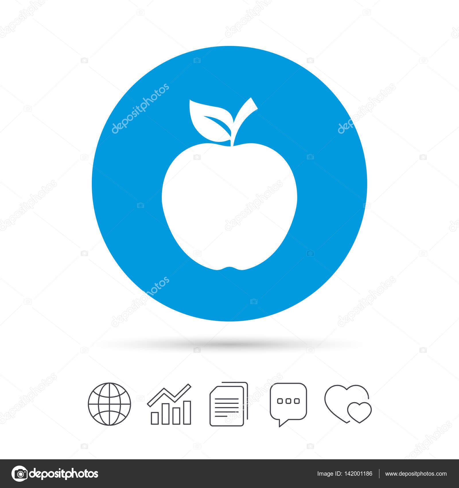 apple sign icon — stock vector © blankstock #142001186