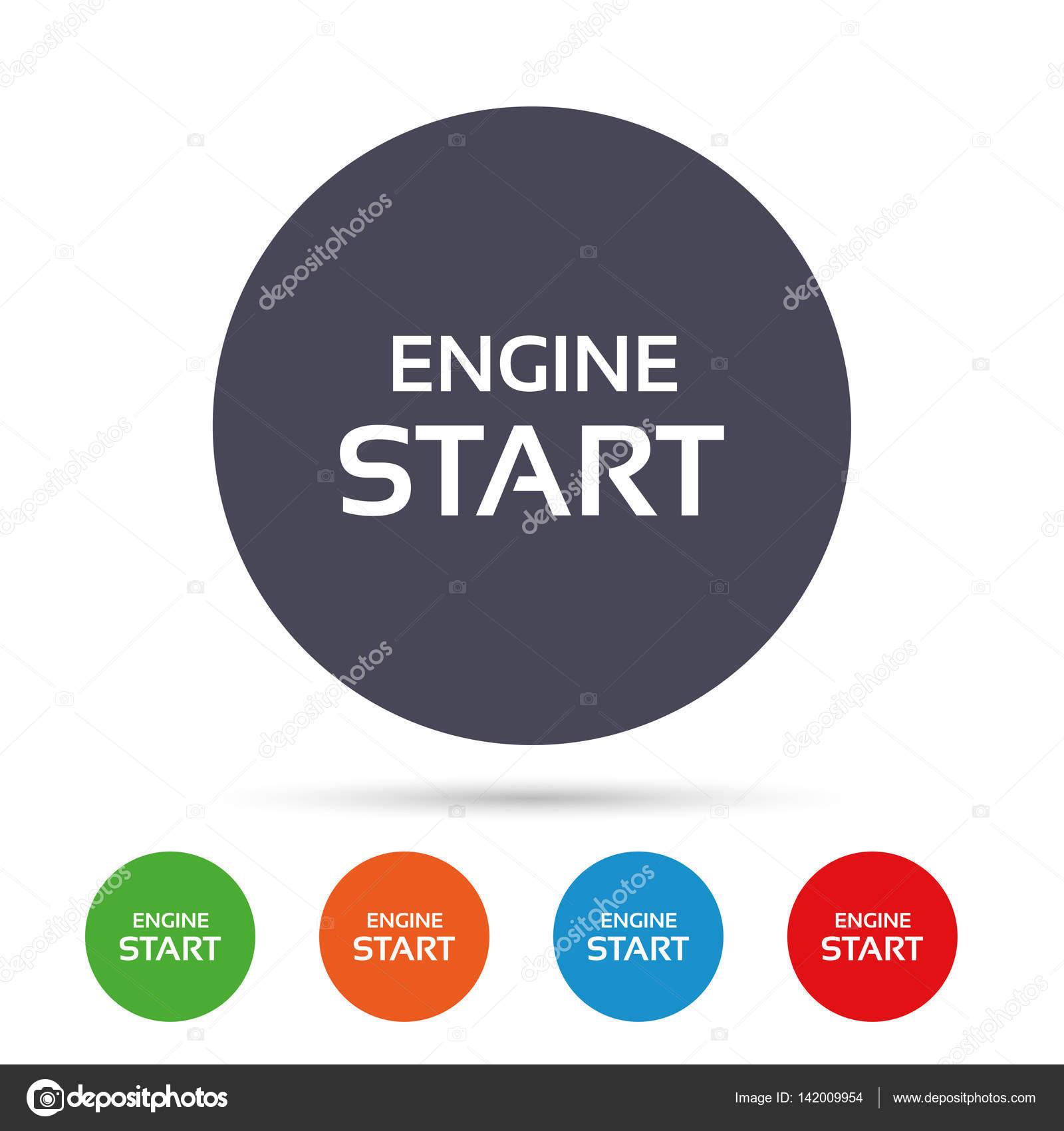 Start Motor Teken Icoon Stockvector C Blankstock 142009954
