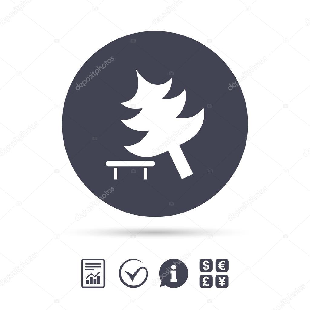 Falling tree sign icon