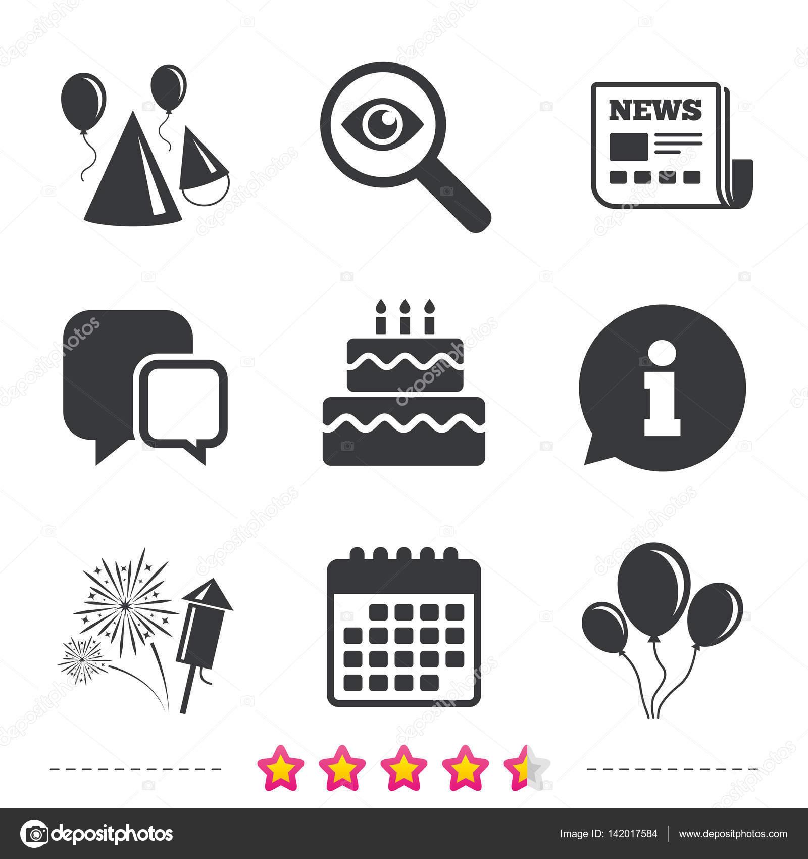 Geburtstag Party Symbole Stockvektor C Blankstock 142017584