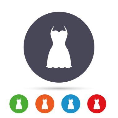 Woman dress sign icon