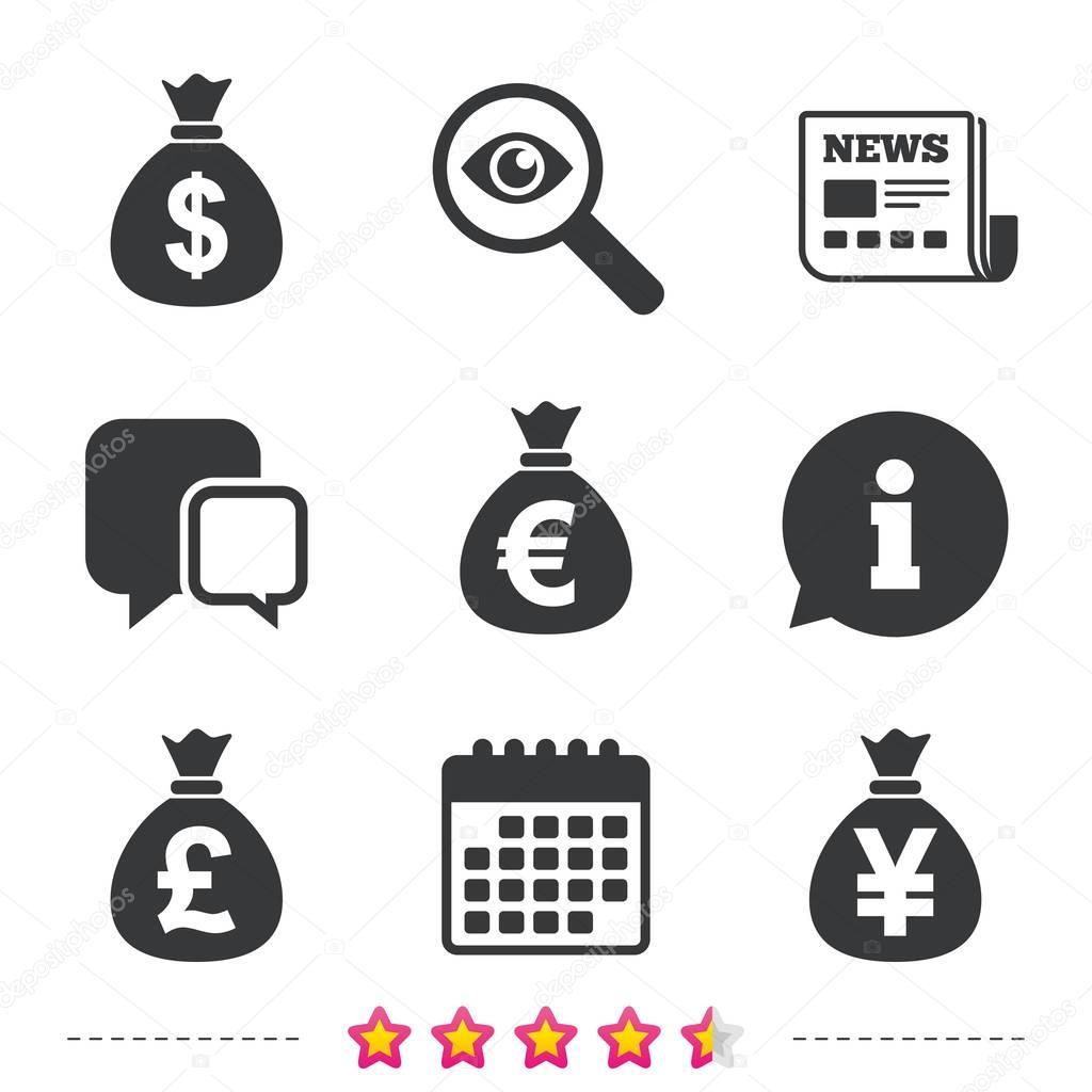 Money bag icons.