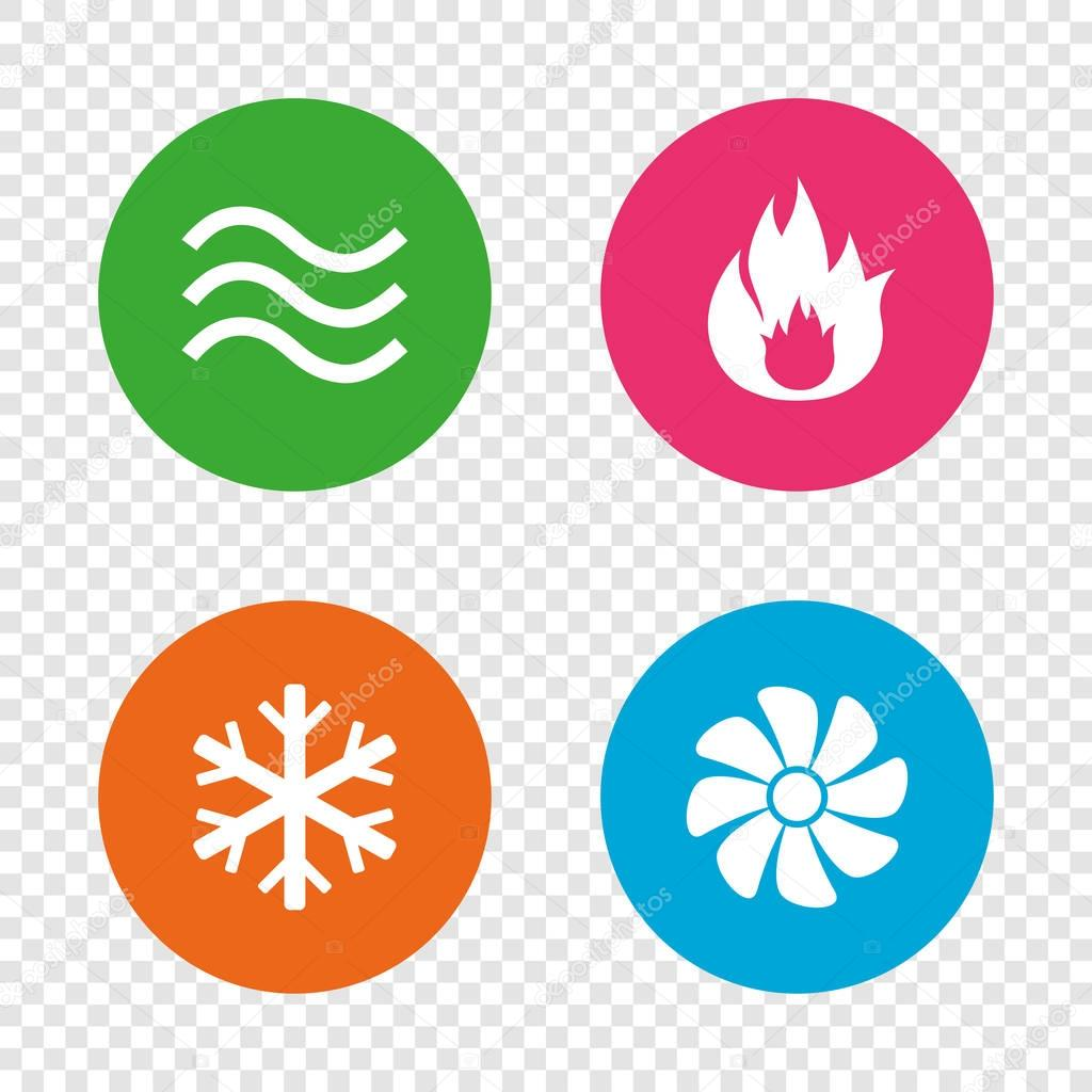 Heating, ventilating and air conditioning symbols