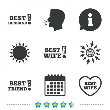 Best wife, husband and friend icons