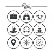 ikona značky cestování