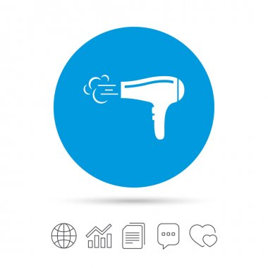 Hairdryer simple icon