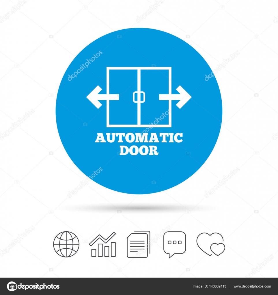 Automatische Tür-Schild-Symbol — Stockvektor © Blankstock #143862413