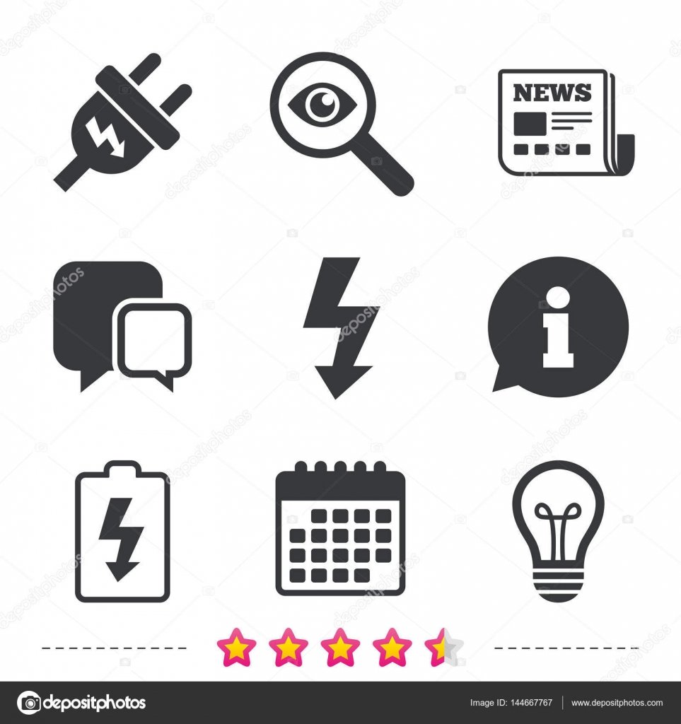Strom Icons set — Stockvektor © Blankstock #144667767