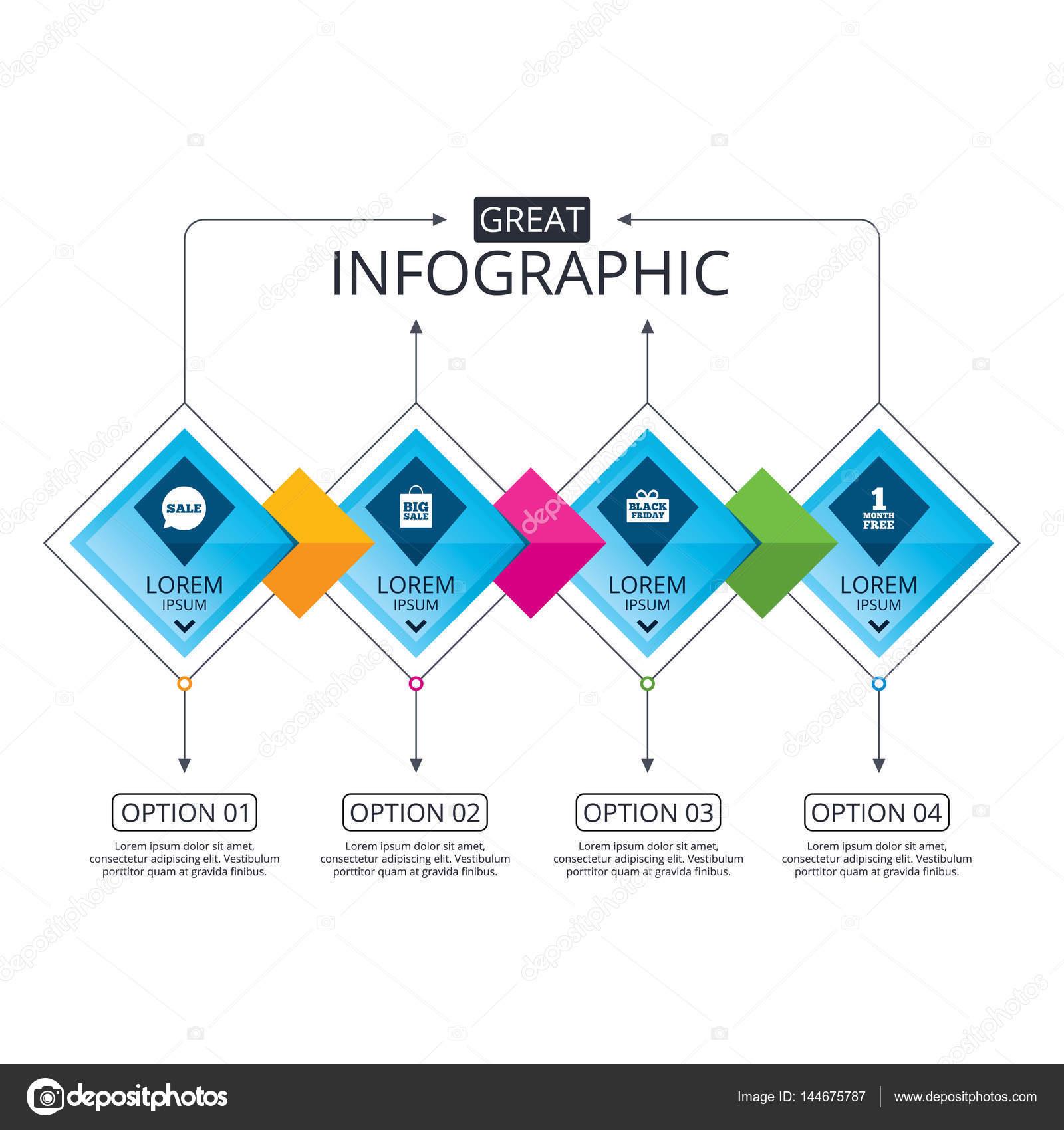 Infografik Flussdiagramm Vorlage — Stockvektor © Blankstock #144675787