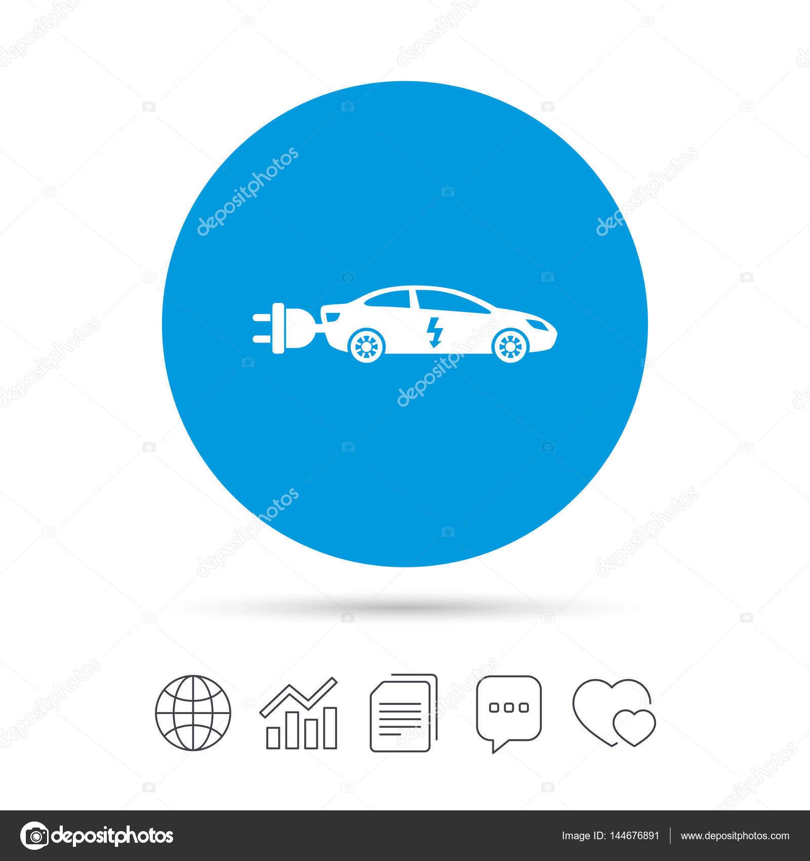 Elektroauto-Symbol — Stockvektor © Blankstock #144676891