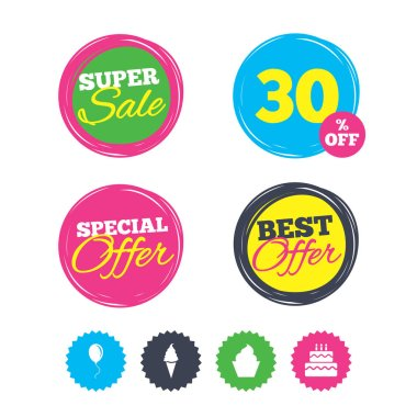 Super sale and best offer stickers.